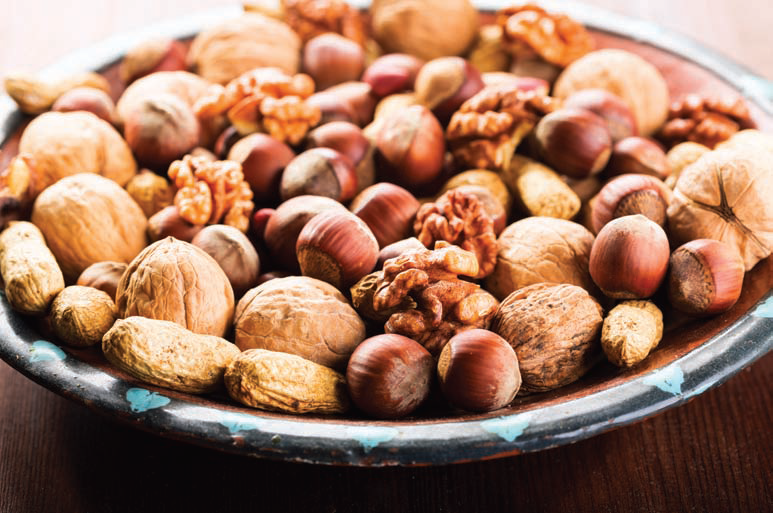Assortment of healthy nuts