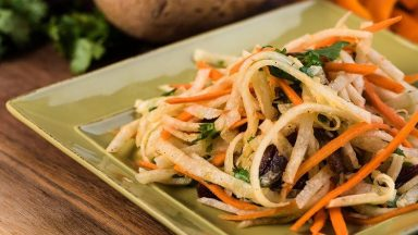 Jicama and Carrot Julienne Salad
