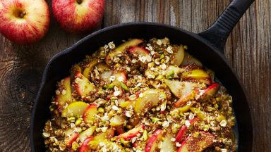 No Bake Apple Pear Crisp