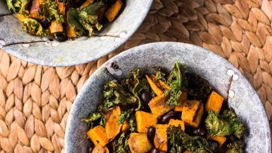 Sweet Potato Kale Sheet Pan Dinner