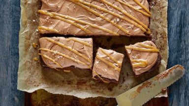 Salted Caramel Frosted Brownies