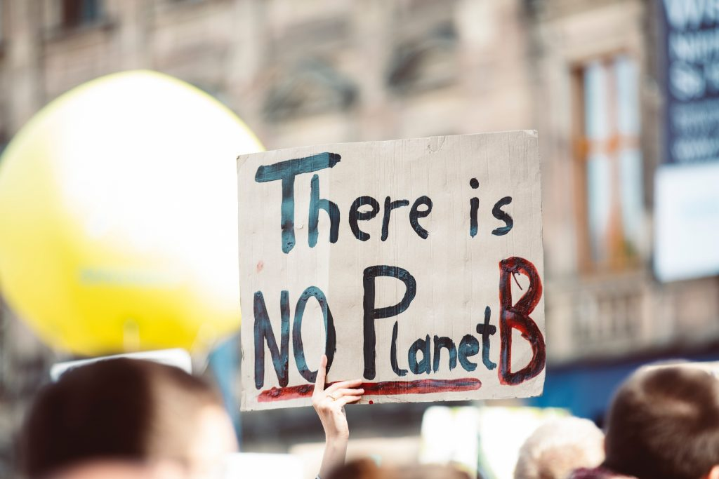"Sign saying: ""There is No Planet B"""