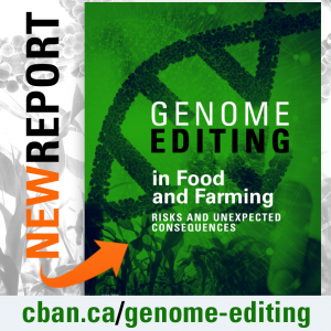 CBAN's Genome Editing in Food and Farming report cover image.
