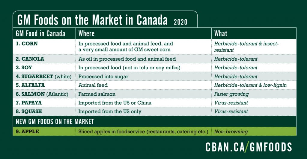 GM Foods on the market in Canada